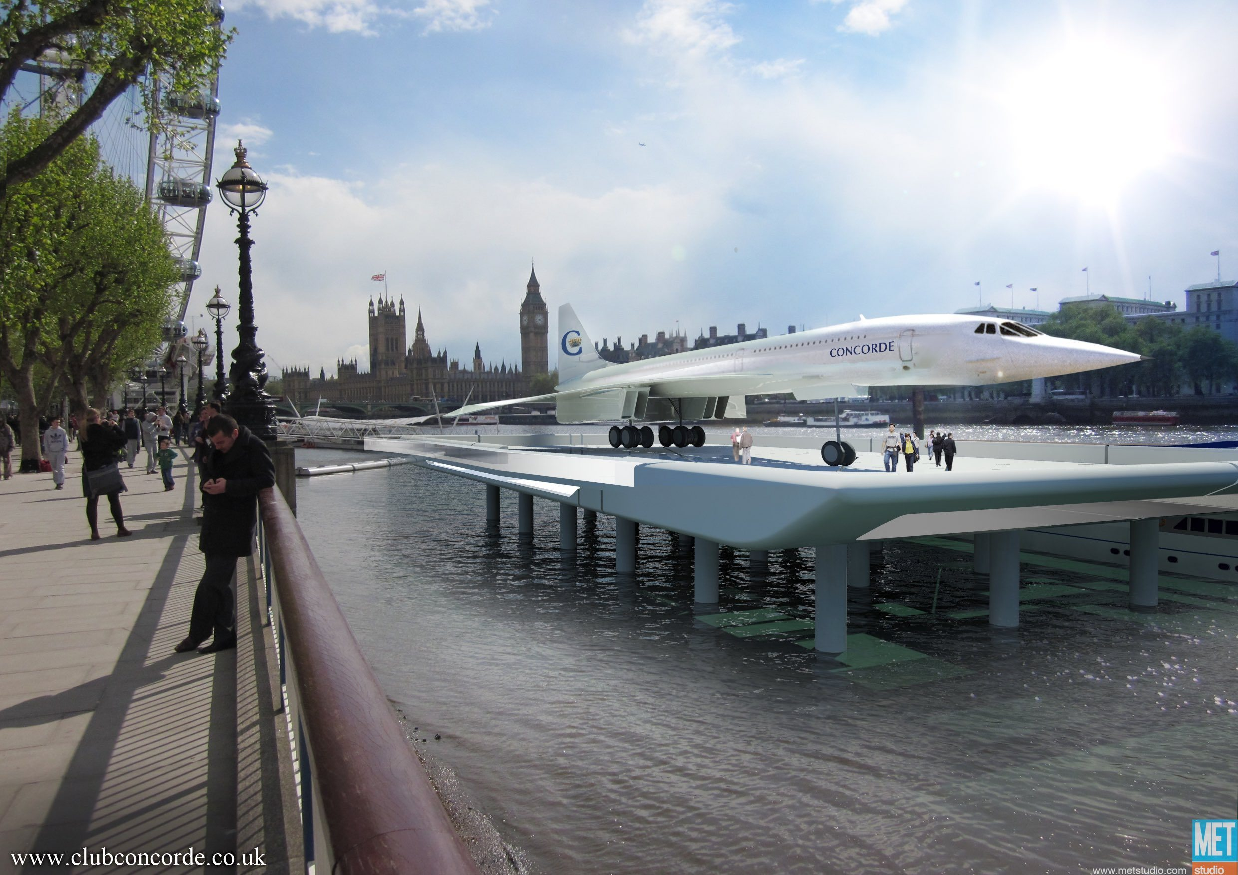 Concorde on the South Bank